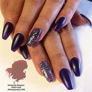 Dark Purple Acrylic Nails | Best Nail Designs 2018