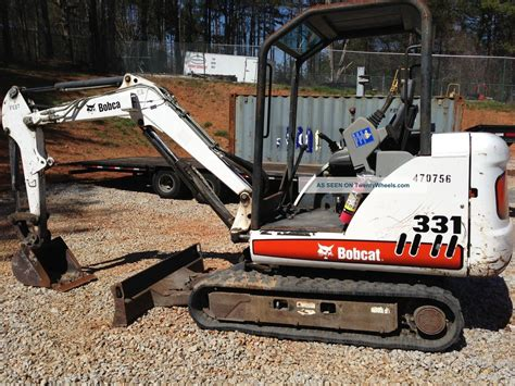 bobcat    mini excavator digger  dig depth  hrs