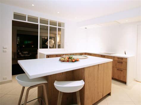 cuisine bois beton cuisines bois pour des cuisines lumineuses matières