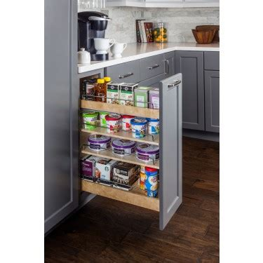 Base Cabinet Pull Out Spice Rack by Base Cabinet No Wiggle Pull Out Spice Rack 5 14
