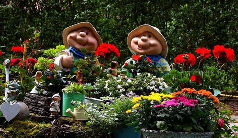 Garten, Blumen, Sommer, Figuren