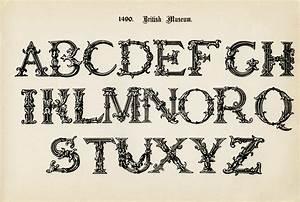 Fancy Alphabet Clipart