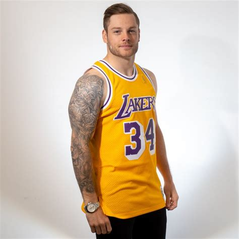 mitchell ness nba los angeles lakers shaquille oneal