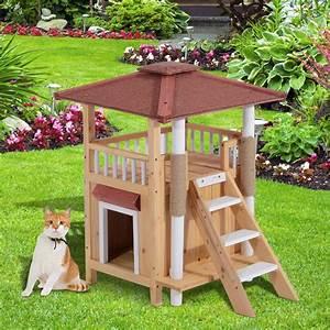 Maison Pour Chat Extérieur : maisonnette pour chat ciel et terre ~ Premium-room.com Idées de Décoration