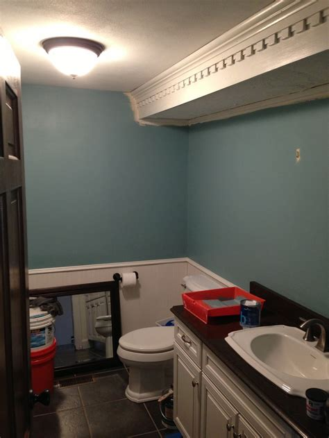 benjamin moore jamestown blue   walls bathroom