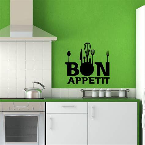 cuisine bon appetit sticker accessoires cuisine bon appetit stickers cuisine textes et recettes ambiance sticker