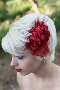 Red Flower Hair Accessories for Weddings
