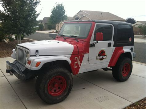 plasti dip jeep emblem plastidip and a couple decals to to make a jurassic park