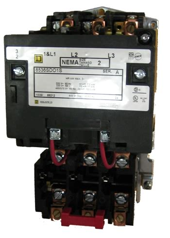 square d 8536sdo1s size 2 nema starter with a melting alloy thermal relay