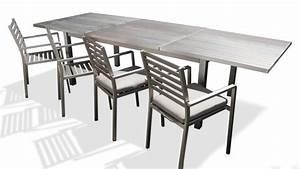 Table De Jardin En Aluminium : table de jardin rallonges en aluminium irwan mobilier moss ~ Teatrodelosmanantiales.com Idées de Décoration