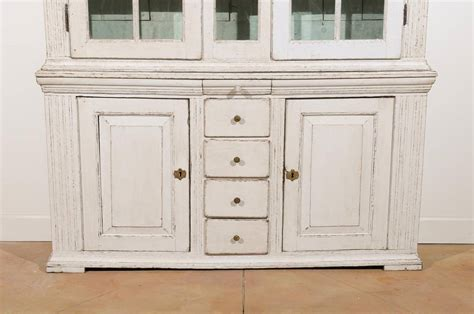 cabinet doors and drawers for sale swedish 1770s tall painted cabinet with broken pediment