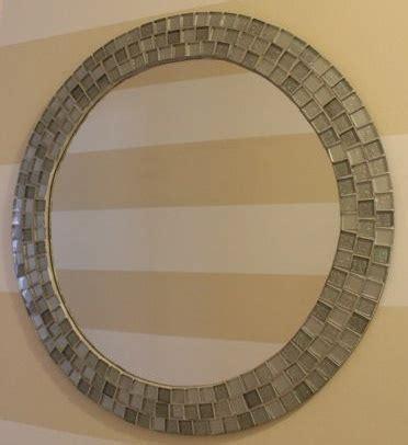 Mosaic Bathroom Mirror Diy by Diy Tiled Mosaic Mirror For The Home