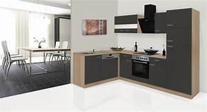 Küchen L Form Poco : respekta economy l form winkel k che k chenzeile eiche s gerau grau 280x172cm ~ Markanthonyermac.com Haus und Dekorationen