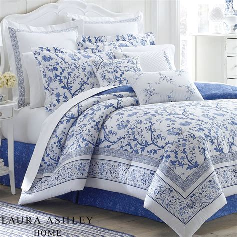 blue and white floor l charlotte blue and white floral comforter bedding by laura