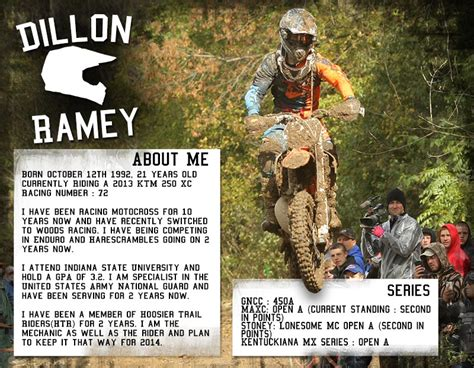 dillon ramey s 2014 sponsorship resume