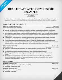 resume exles for realtors real estate attorney resume exle resume sles