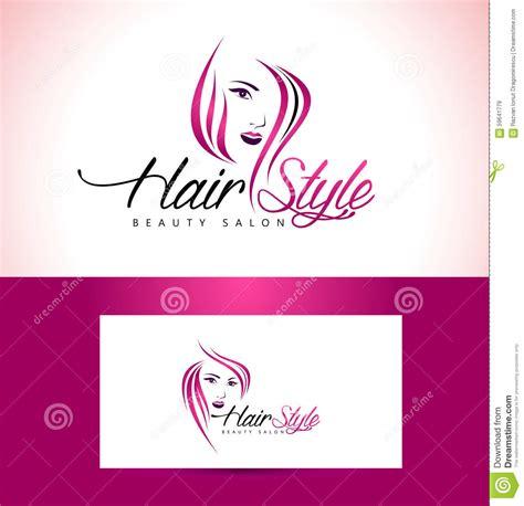 hairstyle salon logo design stock vector image