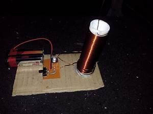 Bobina De Tesla Armada Funcionando Alto Voltaje