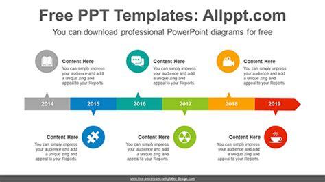 horizontal alignment rectangle powerpoint diagram template