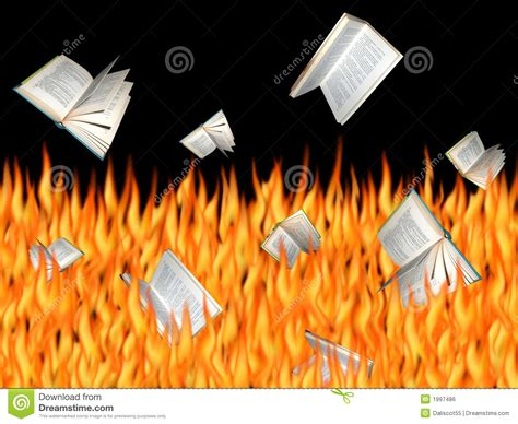 Burning Books Stock Photo. Image Of Falling, Abstract