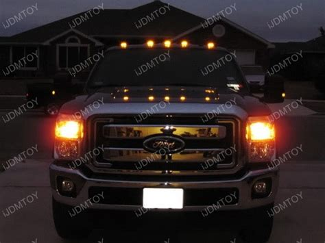 best light pickup truck aerodynamic low profile smoked lens led cab roof light fot