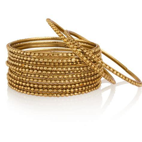 bangles gold plated set