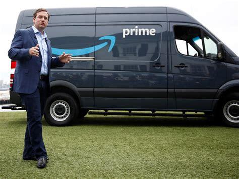 amazon starting deliveries  amazon branded vans cbs news