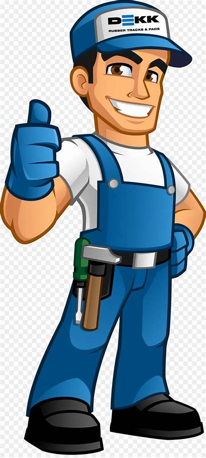 Handyman Clipart Worker Cartoon Clip Transparent Handy