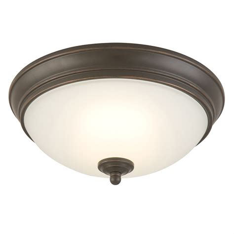 commercial electric 11 inch rubbed bronze led ceiling