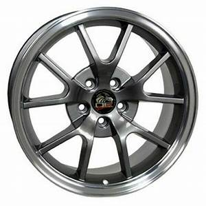 Wheel 1994-2004 Ford Mustang 18 Inch Alloy Rim 5 Lug 114.3 Machined Anthracite | eBay