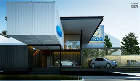 instant car showroom  built   shipping containers treehugger