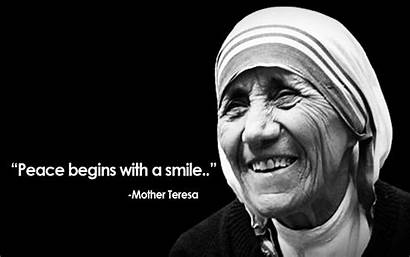 Teresa Mother Quotes Wallpapers Sayings Peace Smile
