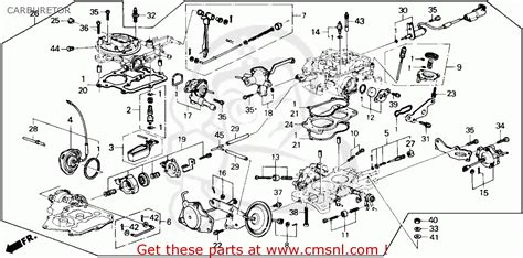 1989 Honda Accord Engine Diagram by Honda Accord 1987 H 4dr Dx Ka Carburetor Schematic