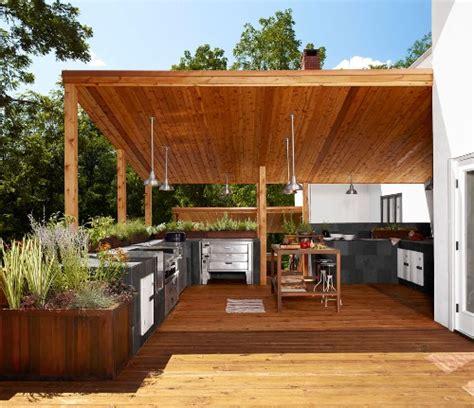 bentuk rumah minimalis modern  dapur outdoor