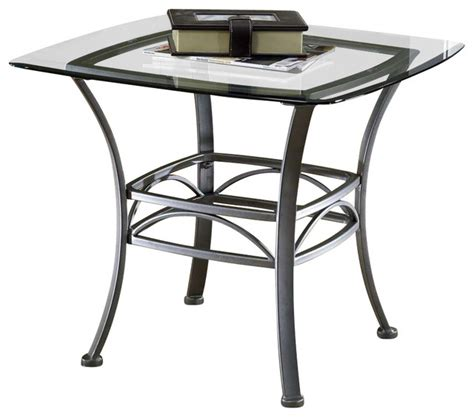 wrought iron end tables with glass tops square end table wrought iron w glass top contemporary