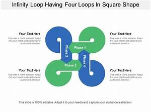 Infinity Loop Having Four Loops In Square Shape