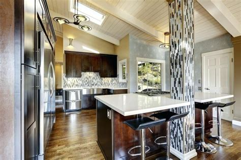 17+ Beauteous Kitchen Cabinets Vaulted Ceiling Layout