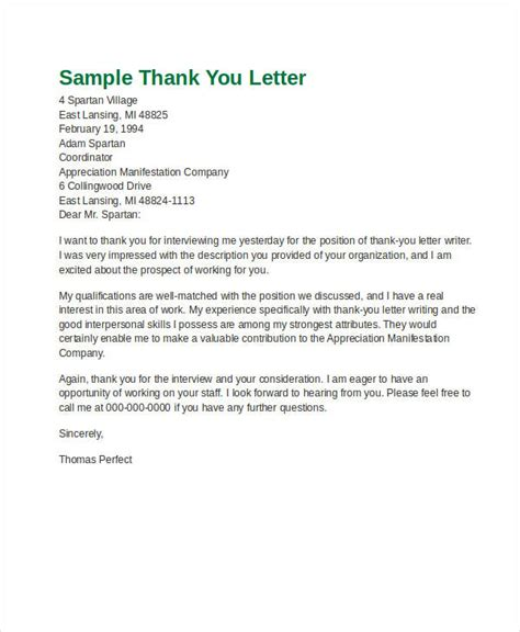 formal letter examples samples