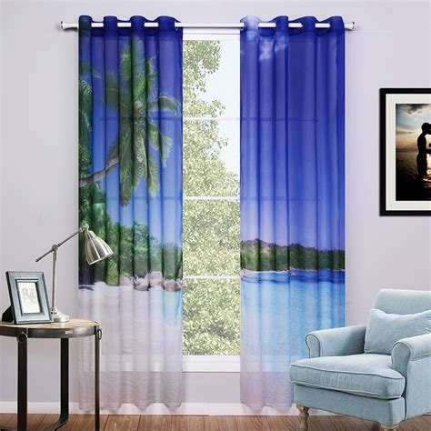 sunnyrain  piece  curtains  bedroom window curtain