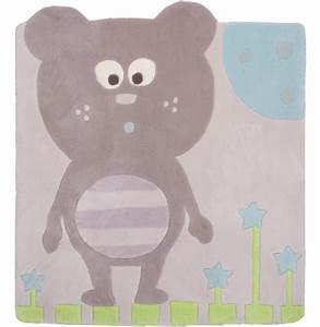 Tapis chambre bebe pas cher rocco ourson nattiot fille garcon for Stickers chambre enfant avec mal de dos et matelas