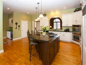 kitchen with two islands stylish kitchen with two tier kitchen island homesfeed