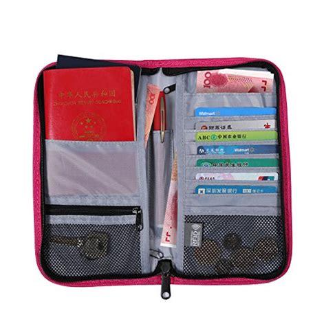 rfid blocking travel wallet passport holder travel