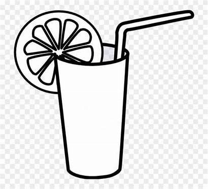 Glass Clipart Drink Water Drawn Clip Lemon