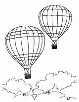 Coloring Air Balloon Pages Balloons Bear sketch template