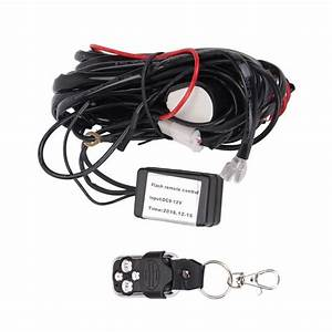 Qdy Remote Wiring Harness For Led Light Bar With 12v 40a