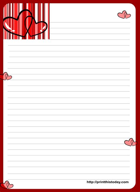 love letter writing paper  hearts letter format