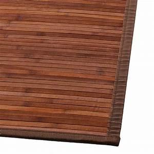 Tapis Bambou Ikea : tapis lattes 170 cm bambou chocolat tapis bambou eminza ~ Teatrodelosmanantiales.com Idées de Décoration