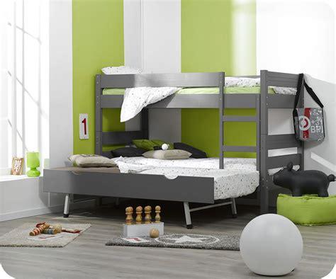 lit superpose enfant 3 ans lit superpos 233 enfant 1 2 3 gris 90x190 cm avec sommier gigogne