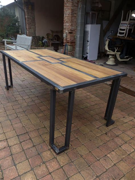 17 best ideas about steel table on steel furniture steel and welding projects