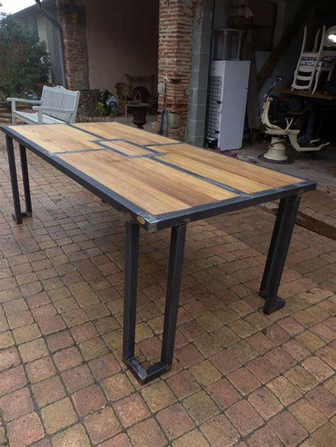 table bois et metal industriel 17 best ideas about steel table on steel furniture steel and welding projects